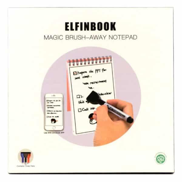 Emballasjen til memoboken, elfinbook memo, gjenbrukbar kladdebok med tusj